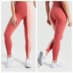 NWT Gymshark Duo Leggings Brick Red/Peach S
